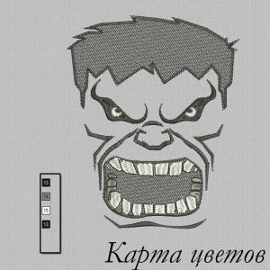 """дизайн для вышивания на футболках """"марвел халк"""" интернет-магазин дизайнов машинной вышивки Ната Белошвейка"""