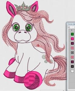 """файл дизайна """"маленькая пони"""" интернет-магазин дизайнов машинной вышивки Ната Белошвейка"""