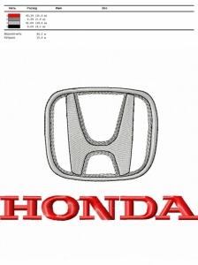 honda логотип для вышивания интернет-магазин дизайнов машинной вышивки Iren Main