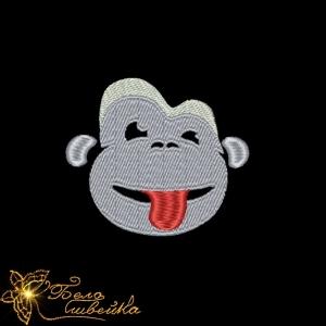 """""""обезьянка"""" - файл для вышивальной машины интернет-магазин дизайнов машинной вышивки Ната Белошвейка"""