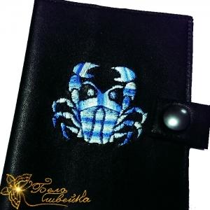 """вышивальный дизайн """"рак"""" интернет-магазин дизайнов машинной вышивки Ната Белошвейка"""