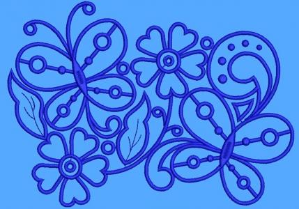 дизайн для машинной вышивки «цветочный бордюр» интернет-магазин дизайнов машинной вышивки Iren Main