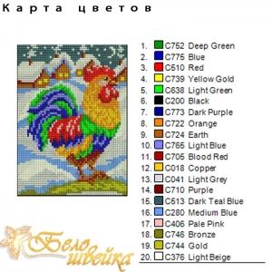 """картина крестиком """"петушок"""" интернет-магазин дизайнов машинной вышивки Мария Казачок"""