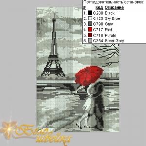 """""""парижская набережная"""" вышивка крестиком интернет-магазин дизайнов машинной вышивки Мария Казачок"""