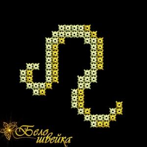 """""""лев - знак зодиака"""" для вышивальной машины интернет-магазин дизайнов машинной вышивки Ната Белошвейка"""