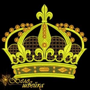 """""""корона"""" дизайн для вышивальной машины интернет-магазин дизайнов машинной вышивки Ната Белошвейка"""