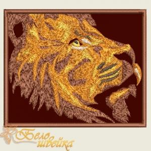 """дизайн шеврона """"лев"""" интернет-магазин дизайнов машинной вышивки Ната Белошвейка"""