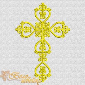"""""""крестильный крест 2"""" дизайн для вышивальных машин интернет-магазин дизайнов машинной вышивки Ната Белошвейка"""