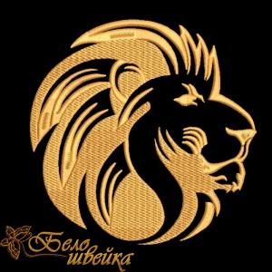 """""""голова льва"""" дизайн машинной вышивки интернет-магазин дизайнов машинной вышивки Ната Белошвейка"""