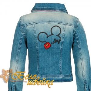 """дизайн вышивки на джинсовую куртку """"микки маус"""" интернет-магазин дизайнов машинной вышивки Ната Белошвейка"""