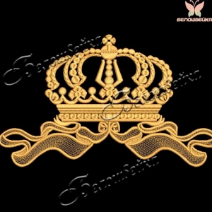 """без обрезок и протяжек дизайн машинной вышивки """"корона"""" интернет-магазин дизайнов машинной вышивки Ната Белошвейка"""