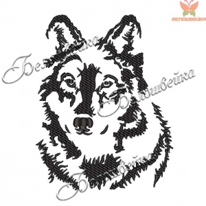 """""""собака"""" дизайн для вышивания на халатах и полотенцах интернет-магазин дизайнов машинной вышивки Ната Белошвейка"""