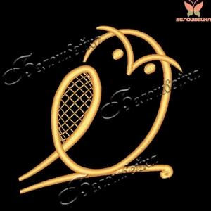 """""""сова"""" бесплатный дизайн компьютерной вышивки интернет-магазин дизайнов машинной вышивки Ната Белошвейка"""