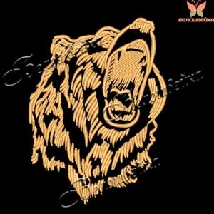"""""""медведь"""" вышивка на халатах интернет-магазин дизайнов машинной вышивки Ната Белошвейка"""