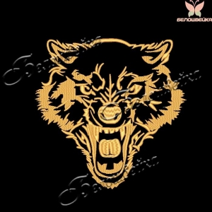 """""""волк"""" дизайн машинной вышивки интернет-магазин дизайнов машинной вышивки Ната Белошвейка"""