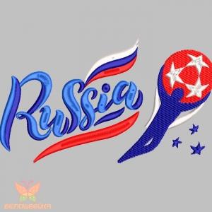 """""""russia футбол""""  дизайн для вышивания интернет-магазин дизайнов машинной вышивки Ната Белошвейка"""