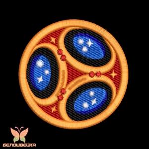 """""""футбольный мяч"""" дизайн машинной вышивки интернет-магазин дизайнов машинной вышивки Ната Белошвейка"""