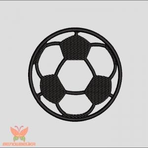 """""""футбольный мяч"""" бесплатный дизайн без протяжек интернет-магазин дизайнов машинной вышивки Ната Белошвейка"""