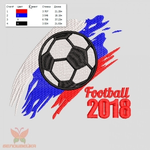 """""""football 2018"""" дизайн машинной вышивки интернет-магазин дизайнов машинной вышивки Ната Белошвейка"""