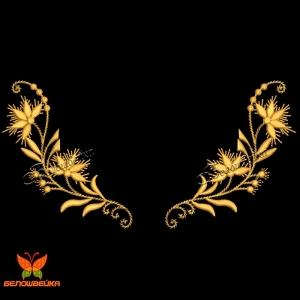 орнамент для крестильной рубашки - машинная вышивка интернет-магазин дизайнов машинной вышивки Ната Белошвейка