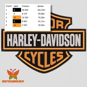 harley-davidson логотип, дизайн машинной вышивки интернет-магазин дизайнов машинной вышивки Ната Белошвейка
