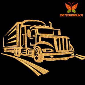 грузовик - машинная вышивка интернет-магазин дизайнов машинной вышивки Ната Белошвейка