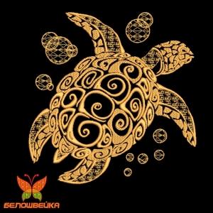 черепаха дизайн компьютерной вышивки интернет-магазин дизайнов машинной вышивки Ната Белошвейка