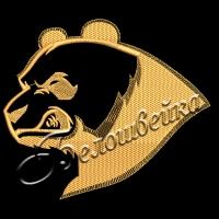 Дизайн машинной вышивки Злой медведь