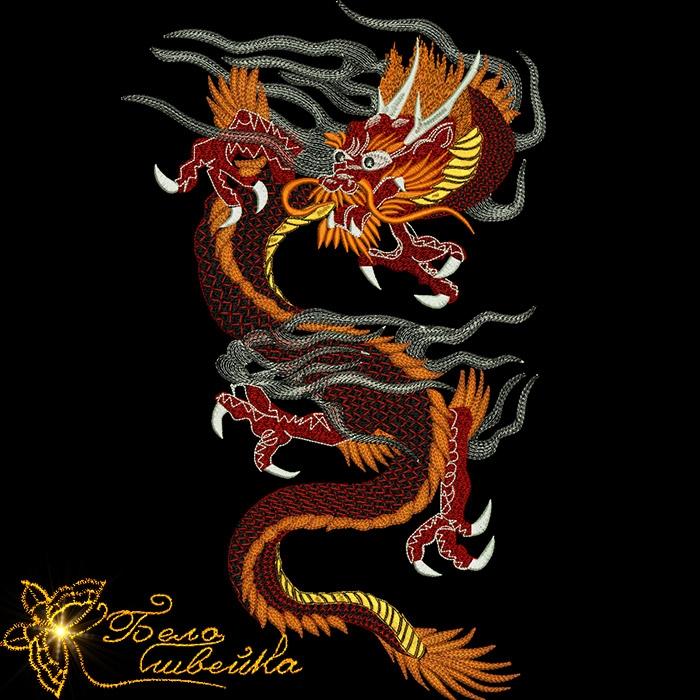 Дизайн дракона вышивка