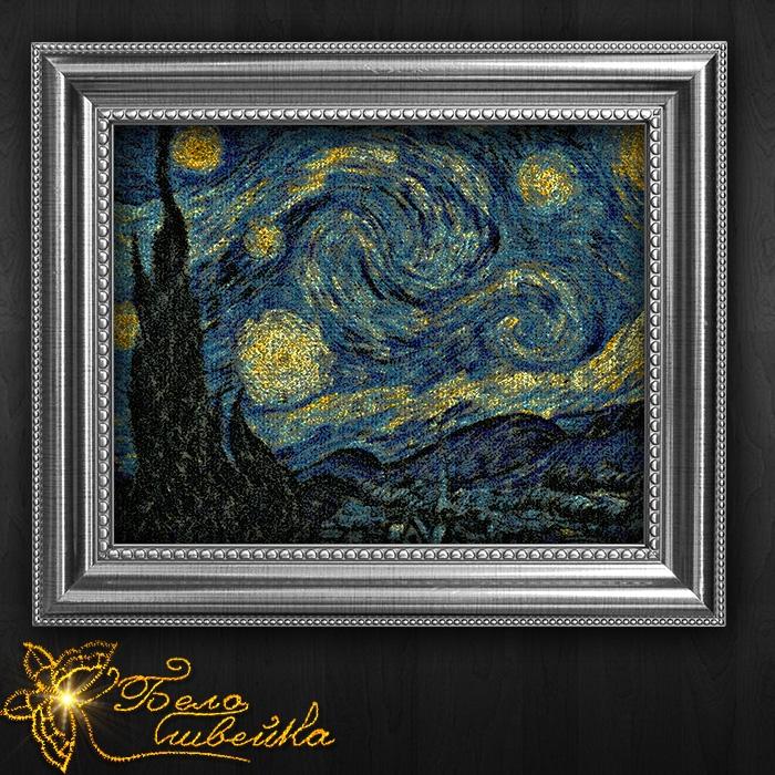 Звездная ночь ван гога вышивка 28
