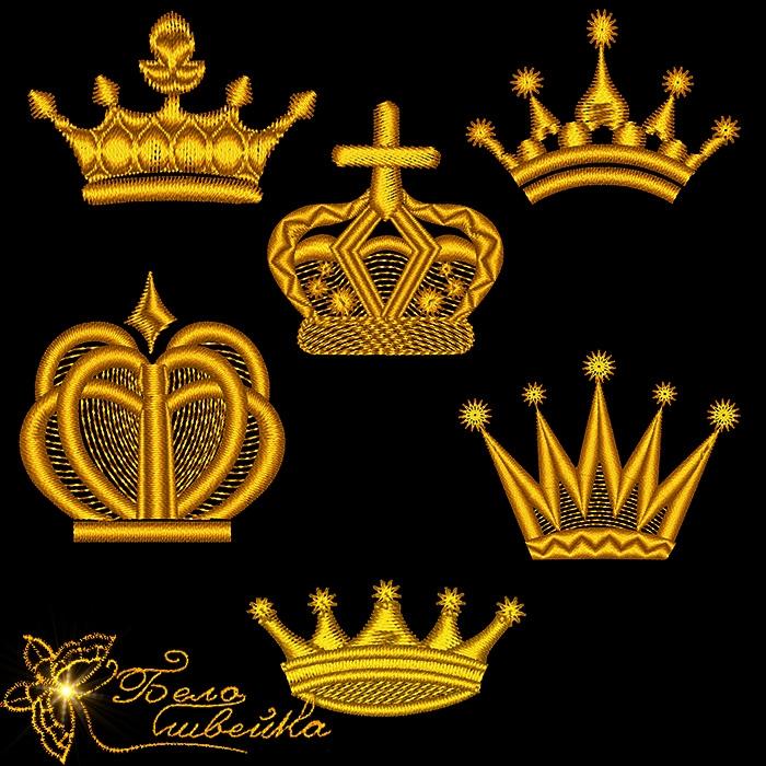 Машинная вышивка корона бесплатно