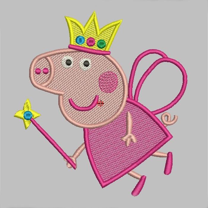 Вышивка свинка пеппа 52