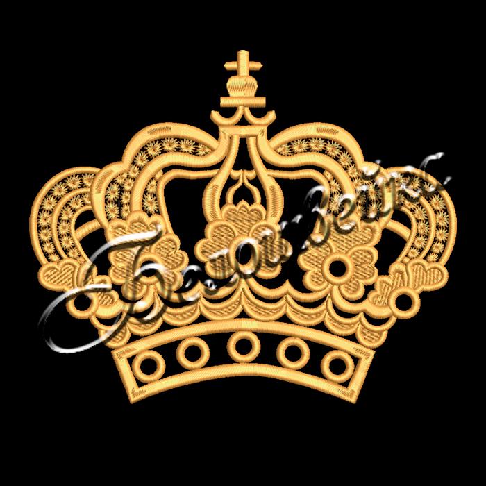 Корона 38 дизайн машинной вышивки на халатах