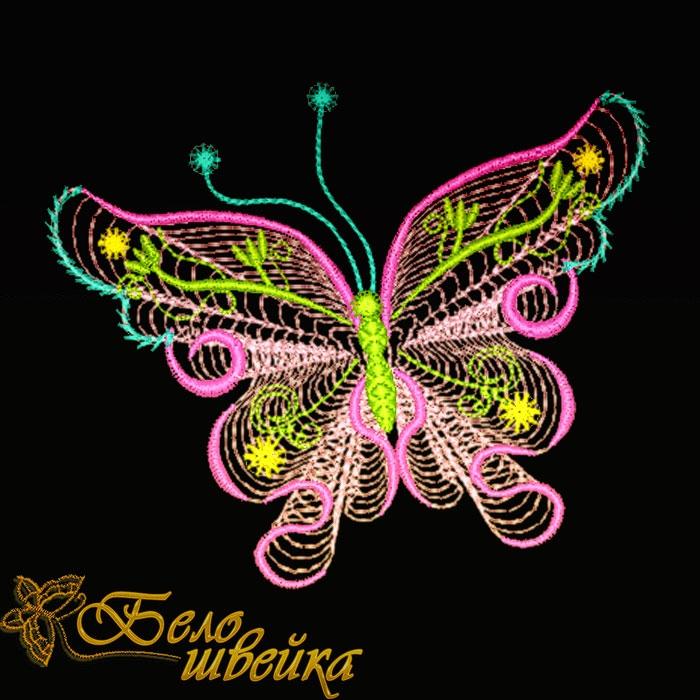 Бабочки дизайны машинной вышивки