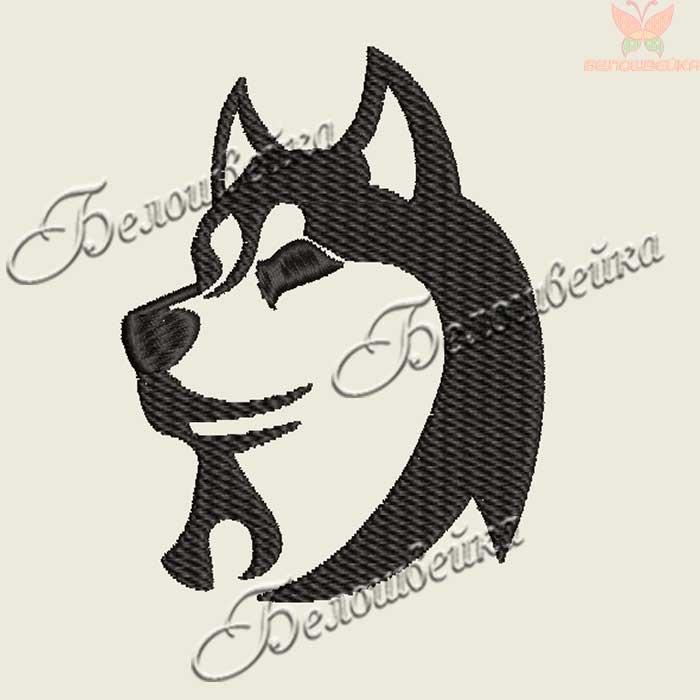 Машинные вышивки собаки