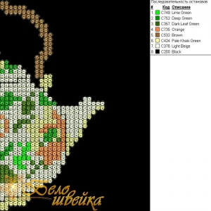 """дизайн машинной вышивки в технике крестик """"чайник"""" интернет-магазин дизайнов машинной вышивки Мария Казачок"""