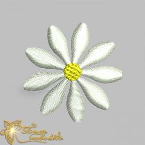 ромашка - бесплатный дизайн для машинной вышивки интернет-магазин дизайнов машинной вышивки Ната Белошвейка