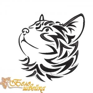 """дизайн без протяжек """"котенок"""" машинная вышивка интернет-магазин дизайнов машинной вышивки Ната Белошвейка"""