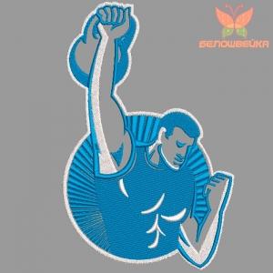 """""""спортсмен"""" дизайн для вышивания интернет-магазин дизайнов машинной вышивки Ната Белошвейка"""