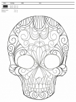 """дизайн для вышивания """"череп"""" интернет-магазин дизайнов машинной вышивки Iren Main"""