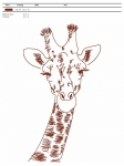 машинная вышивка «жираф» интернет-магазин дизайнов машинной вышивки Iren Main
