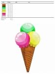 дизайн для машинной вышивки «мороженое» интернет-магазин дизайнов машинной вышивки Iren Main