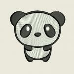 бэби панда - дизайн для машинной вышивки интернет-магазин дизайнов машинной вышивки Ната Белошвейка
