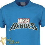"""Надпись для вышивки на майке """"Marvel Heroes"""""""