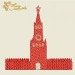 """Дизайн машинной вышивки """"Кремль"""""""