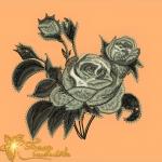 """дизайн """"серебрянные розы"""" интернет-магазин дизайнов машинной вышивки Ната Белошвейка"""