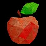 """""""Геометрическое яблоко"""" дизайн для вышивания"""