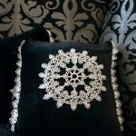 Салфетка фриволите - дизайн вышивки