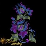 Дизайн для машинной вышивки «Абстрактный цветок 2»
