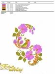 дизайн для машинной вышивки «птица с цветами» интернет-магазин дизайнов машинной вышивки Iren Main